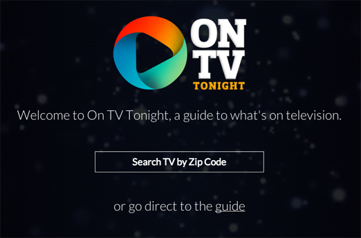 OnTVTonight.com Homepage