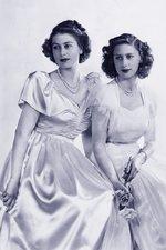 Elizabeth II and Princess Margaret
